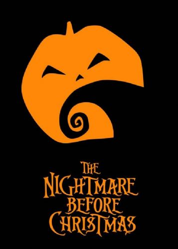 1990's Movie - THE NIGHTMARE BEFORE CHRISTMAS MINIMAL2/ canvas print - self adhesive poster - photo